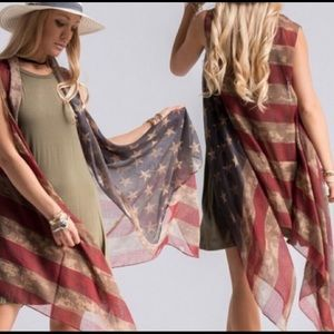 American Flag Vest ❤️💙🇺🇸